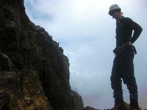 Descending Iliniza Norte