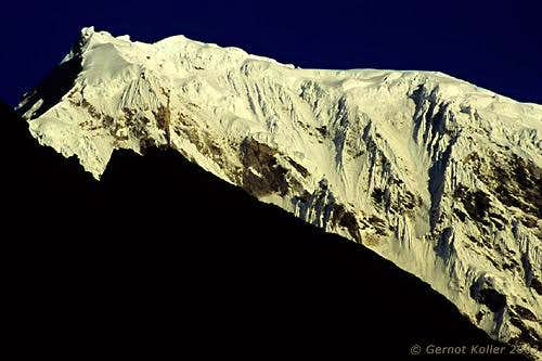 First light on Langtang Lirung