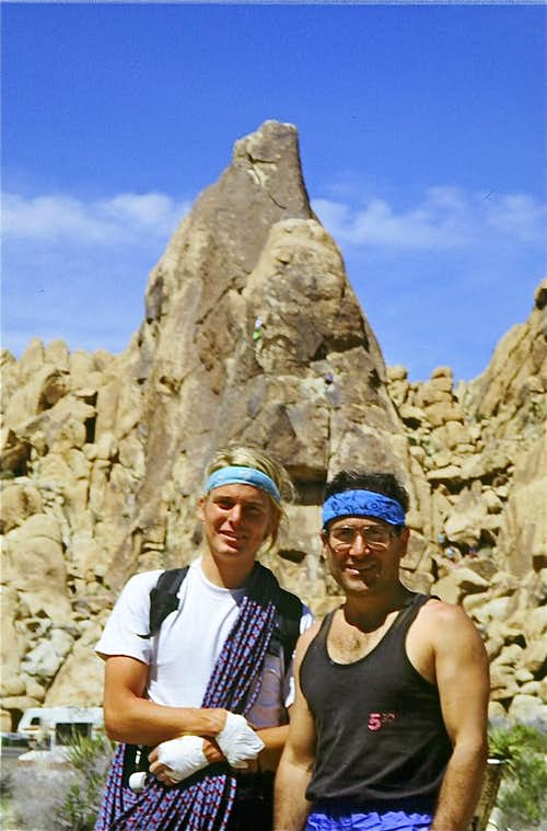 With  John. P, In Joshua Tree, mid 90s