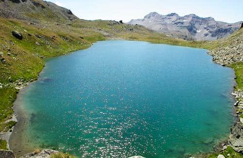 il lago Lussert inferiore...