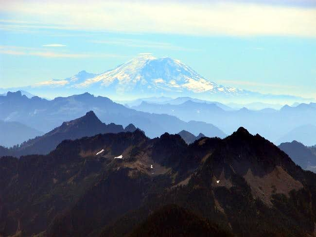 Here's the view of Mt....