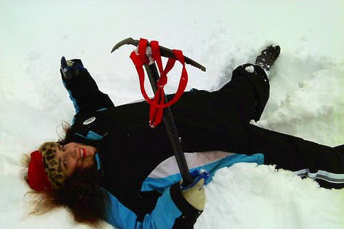 Unconventional use of the ice axe