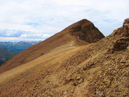 The summit of Baldy Mountain...