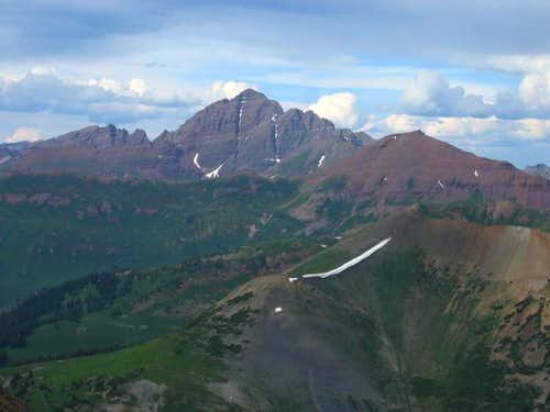 South Maroon Peak from Mount...