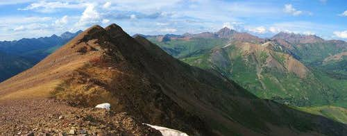 Baldy Mountain's summit and...