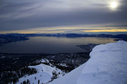 Lake Tahoe from the summit of Rose Knob