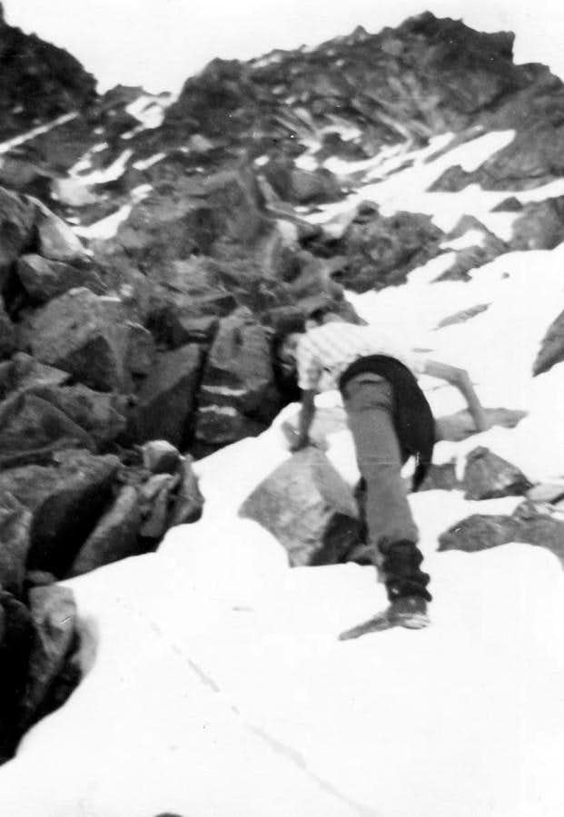 P. GARIN the Direct Variant on West Face to Shoulder 3207/8m on 1966