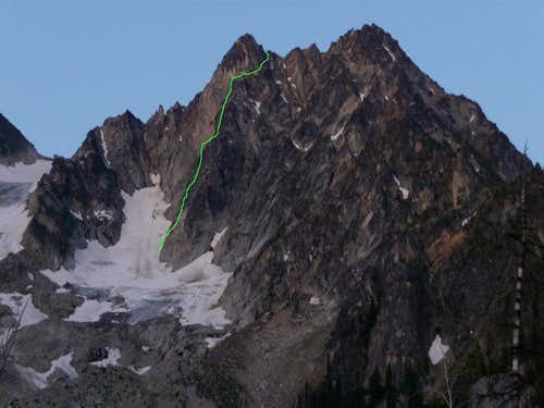 NE Buttress Colchuck Peak.