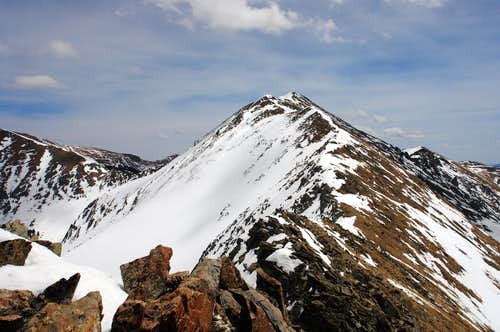 "Approaching the summit of UN 12,819 (""Bighorn Peak"")"