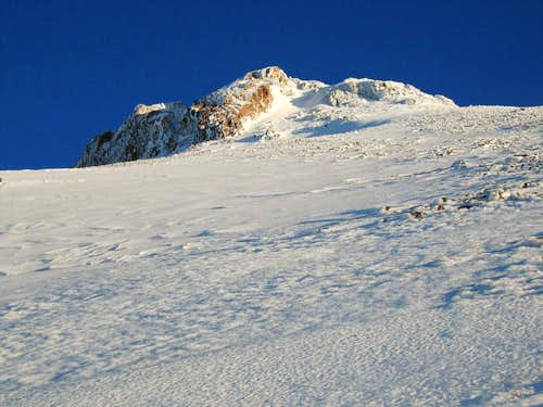 View of the headwall