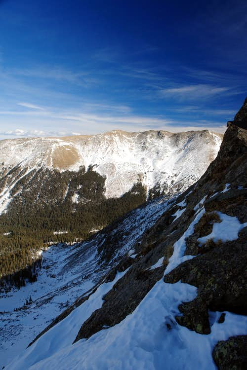 Wheeler Peak and Mount Walter from the headwall