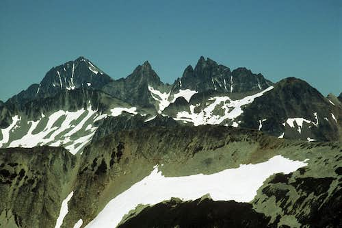 Mox Peaks from Red Face Mountain