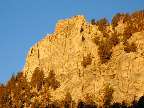 Morning Sun On Golden Trout Crag