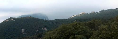 Pic Saint-Loup in the fog