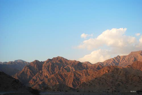 The Hajar Mountains of the United Arab Emirates and NW Oman