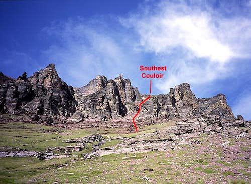 SE Couloir, Sinopah Mountain