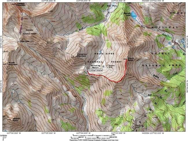 Mount Baldy Elk Range Climbing Hiking Mountaineering - Mt baldy map on map of us