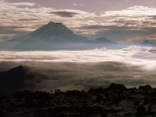 Cotopaxi from Illinizas.