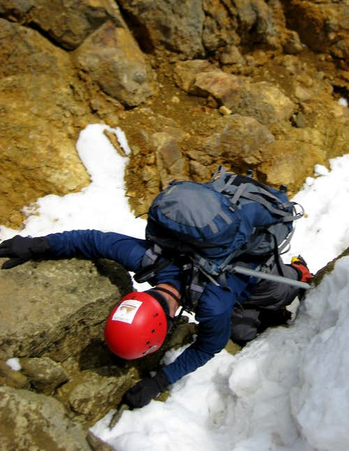 Down Climbing the rock