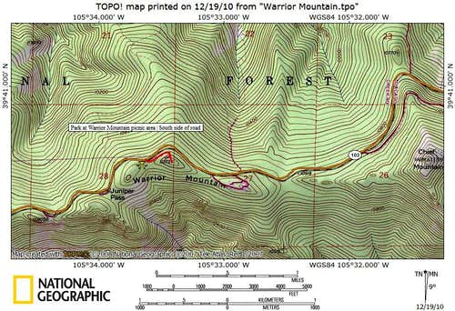 Route Map, Warrior Mountain