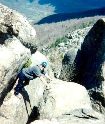 Off trail on Old Rag