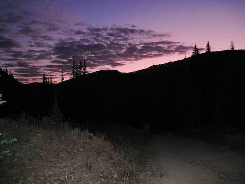 Sunrise on Approach to Castle Peak