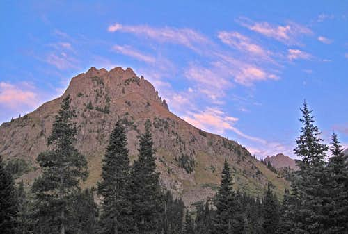 Sunrise and Teakettle Mountain