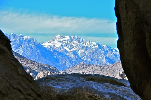 Looking out of Whitney Cave