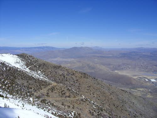Cold Springs and Peterson Mountain from Peavine Peak.