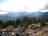 on trail up Mt. Tallac