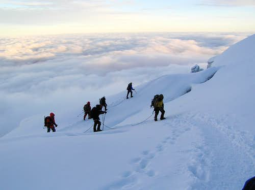 Cotopaxi above the clouds