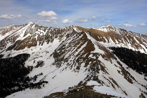 "Looking along the NE Ridge of ""Bighorn Peak"""