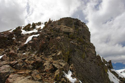 One of the rocky steps on the NE ridge of  Bighorn Peak