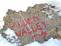 Hidden Valley Rock Sign