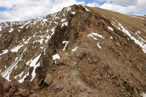 The saddle between UN 12,728 and Simpson Peak