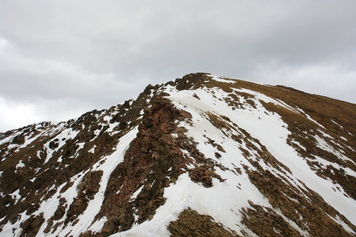 Approaching the summit of Simpson Peak
