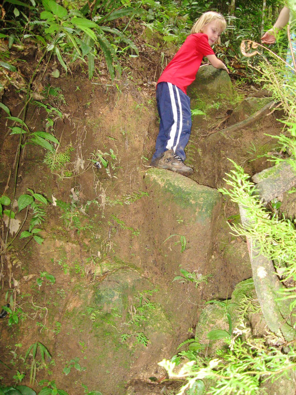 Steep and slippery route