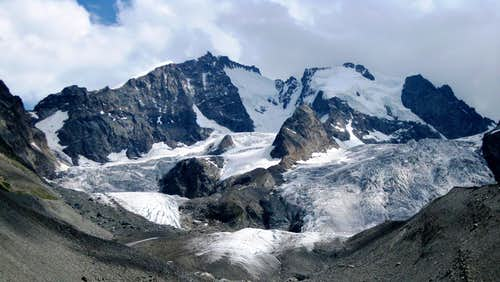 Piz Bernina and Piz Scerscen