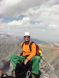 My son Ryan on the summit.