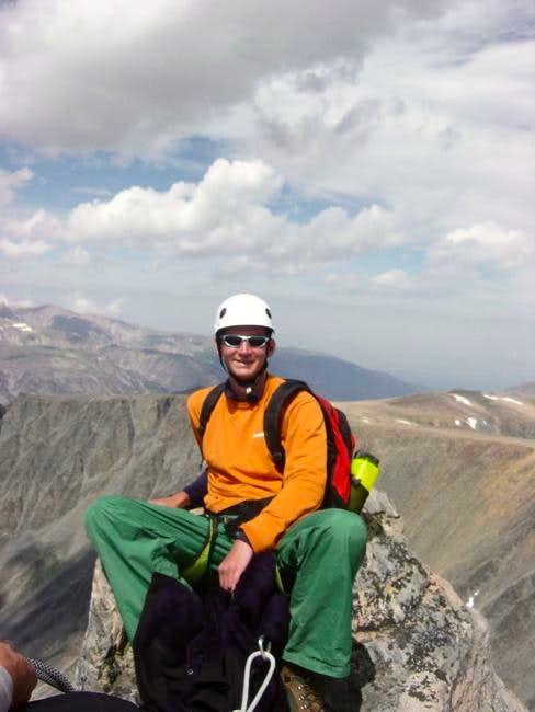 My son Ryan on the summit.