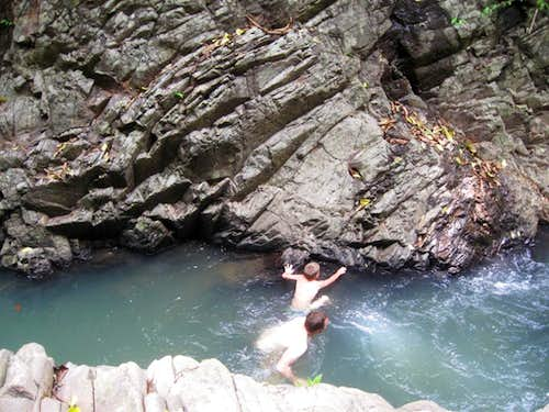 Swimming up the gorge