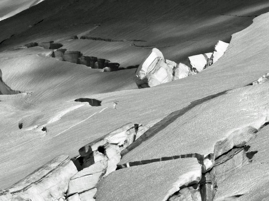 Crevasses on Mount Baker