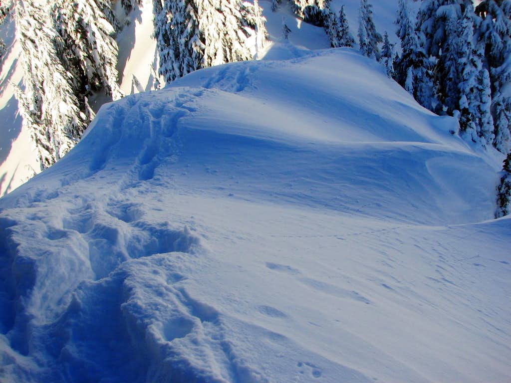Wind Blown Snow Slope