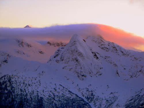 Sunset over Pyramid Peak