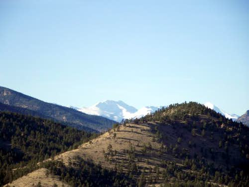 Bald Mountain rises to the west