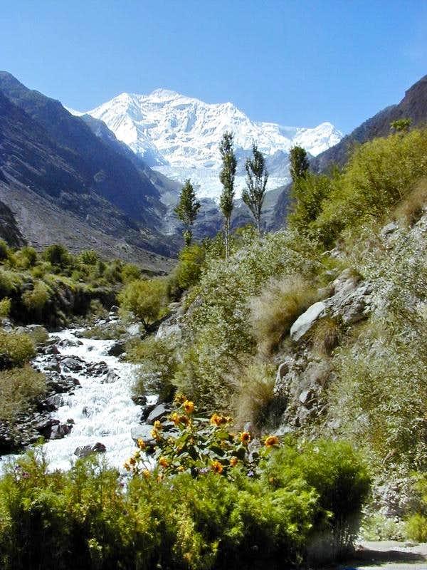 Rakaposhi as seen from KKH