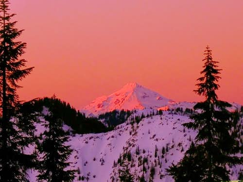 Glacier Peak during Sunset