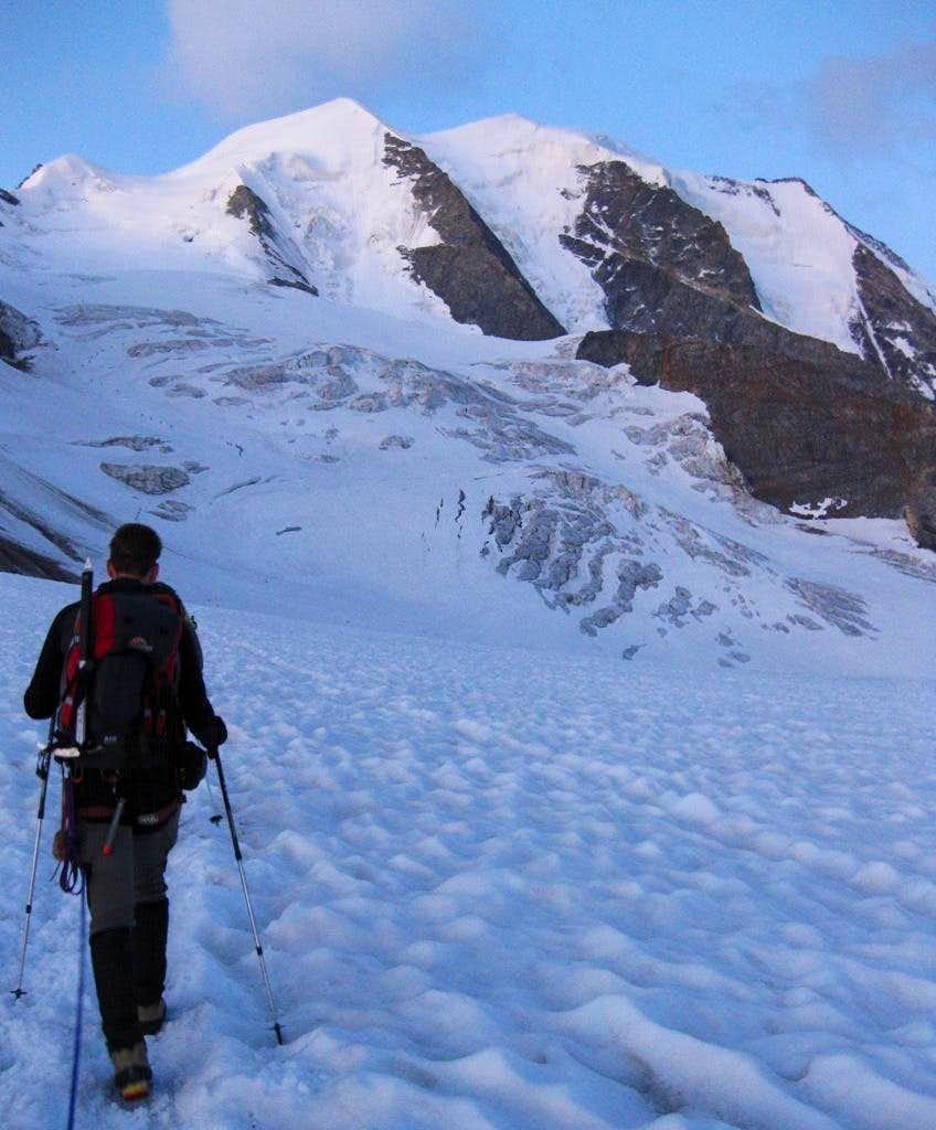 Piz Palü from the Pers glacier near Fuorcla Trovat