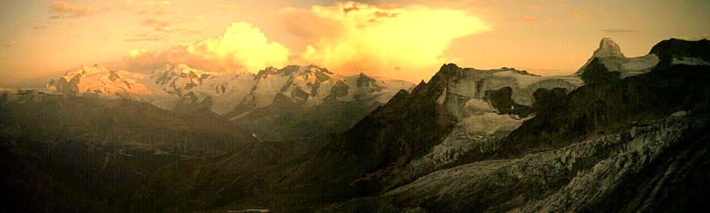 Monte Rosa - Breithorn - Matterhorn