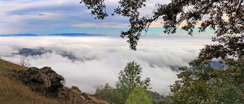 South pan view from Mt. Diablo
